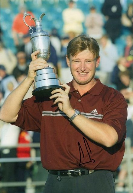 Ernie Els, Open Championship 2002 Muirfield, signed 12x8 inch photo.